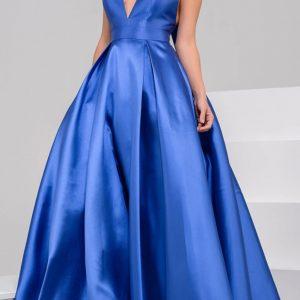 Nová kolekcia-krásne modré JOVANI šaty